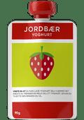 Jordbæryoghurt i klemmepose