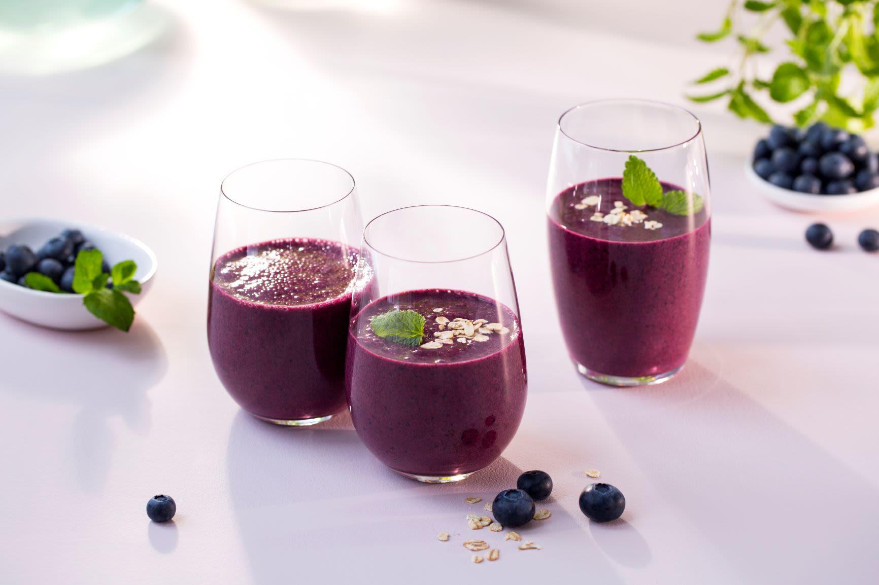 Forfriskende blåbærsmoothie