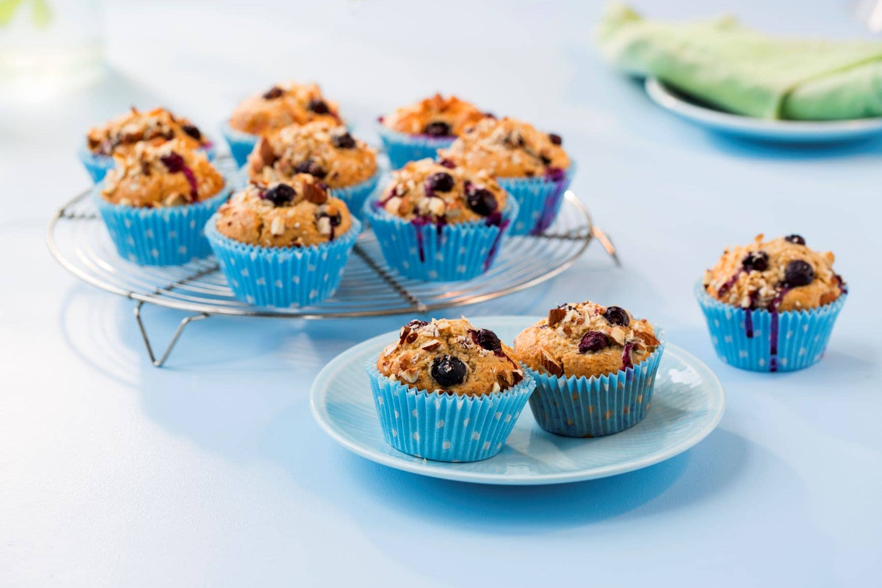 Saftige blåbærmuffins