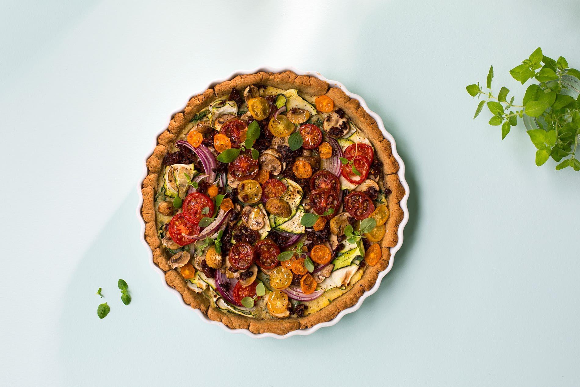 Vegansk pai med grønnsaker