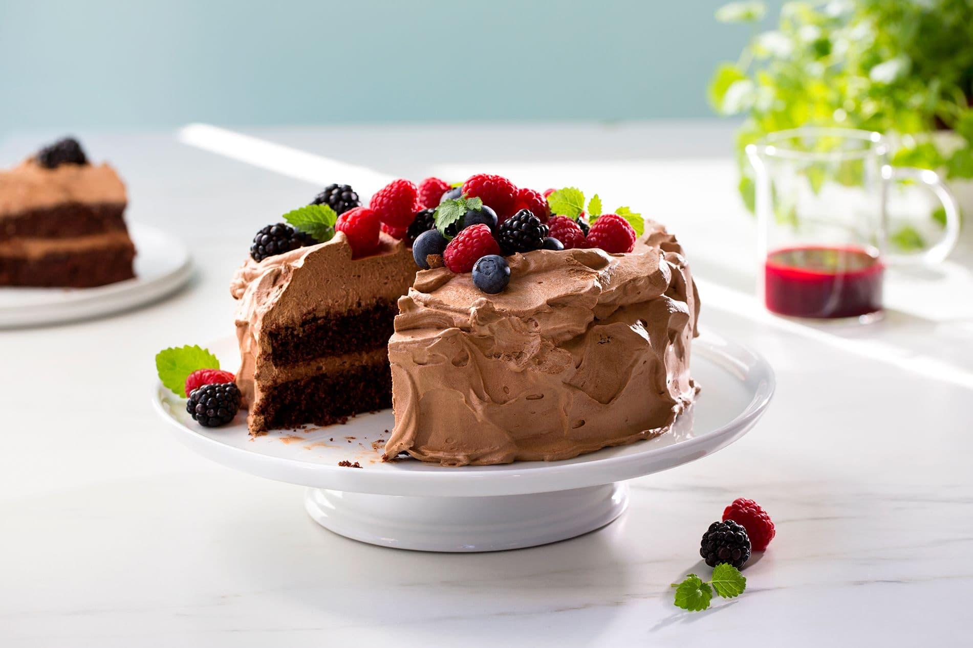 Vegansk sjokoladekake