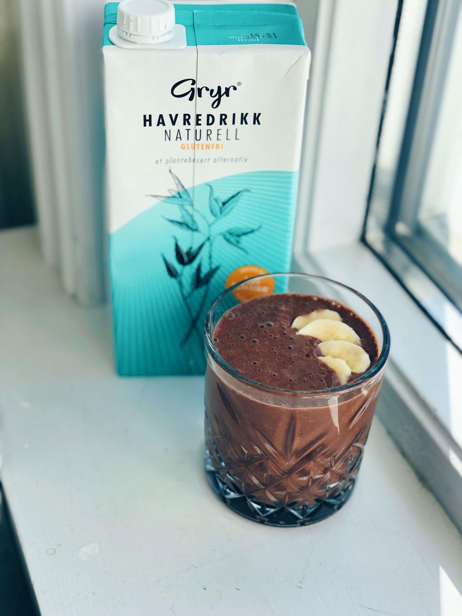 Sjokoladesmoothie med Gryr Havredrikk