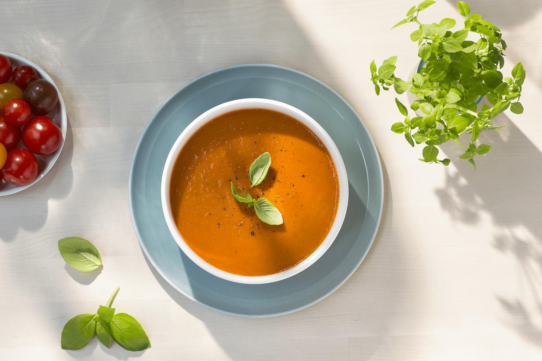 Kremet laktosefri tomatsuppe