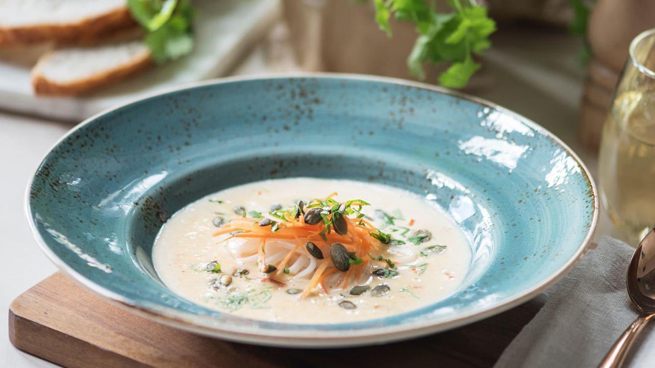 Rød currysuppe
