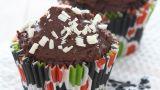 Sjokoladecupcakes med mokka- og sjokoladetopping