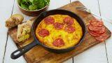 Spansk tortilla med chorizo