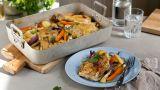 Kylling i form med rotgrønnsaker