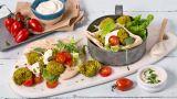 Bakt grønn falafel