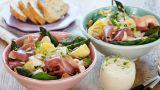 Aspargessalat med skinke