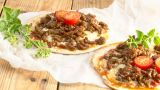 Tortillapizza med kjøttdeig