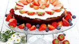 Fransk sjokoladekake med jordbær