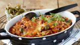 Gratinert ratatouille og pasta