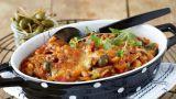 Gratinert ratatouille med pasta