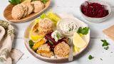 Gulrot-falafel med rødbetsalat