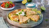Grillet avokado-quesadillas