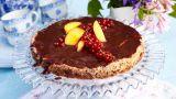 Sjokoladekake på mandelbunn