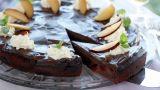 Sjokoladekake med plommer