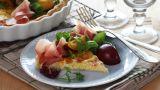 Pai med skinke og frukt