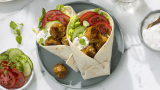 Vegetarboller i wraps