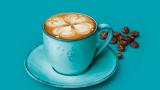 Cappuccino med mønster