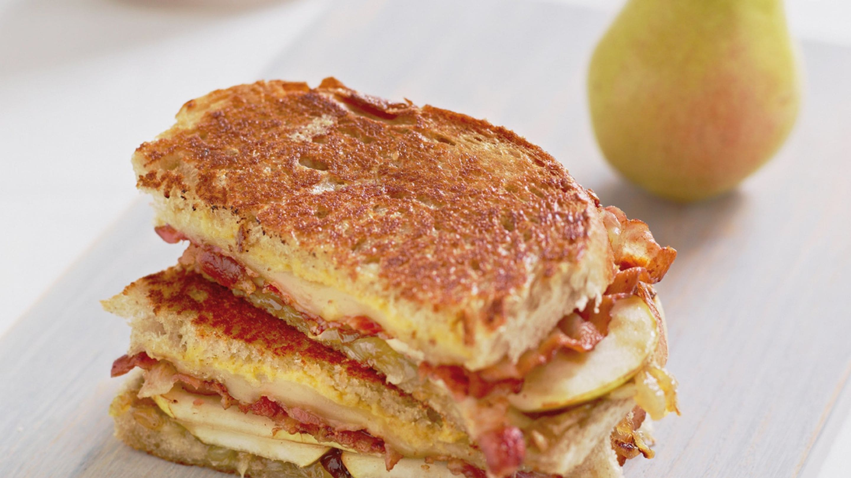 Sandwich med karamellisert løk