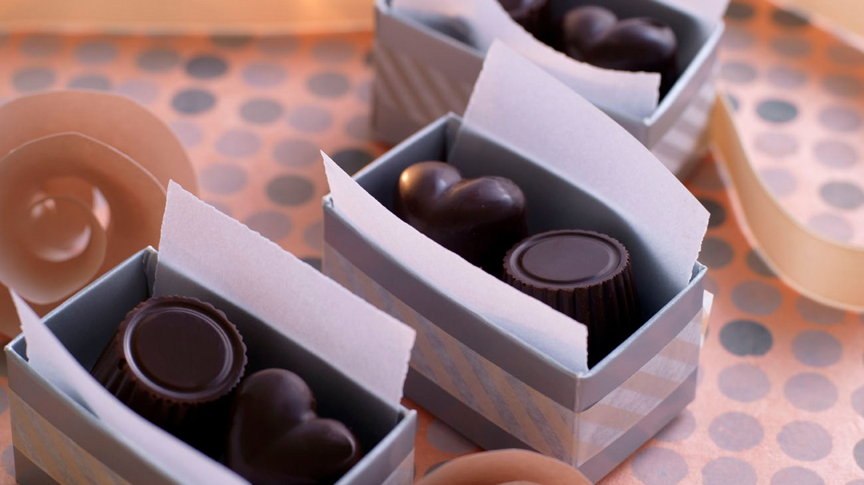 Fylte konfektbiter
