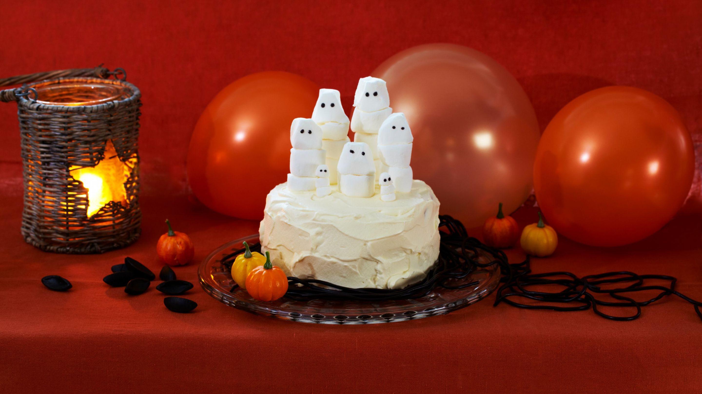 Spøkelseskake til halloween