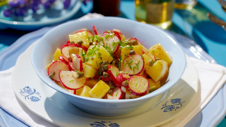 Potet- og reddiksalat