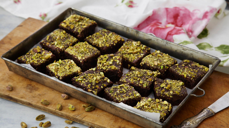 Glutenfri langpannekake med sjokolade