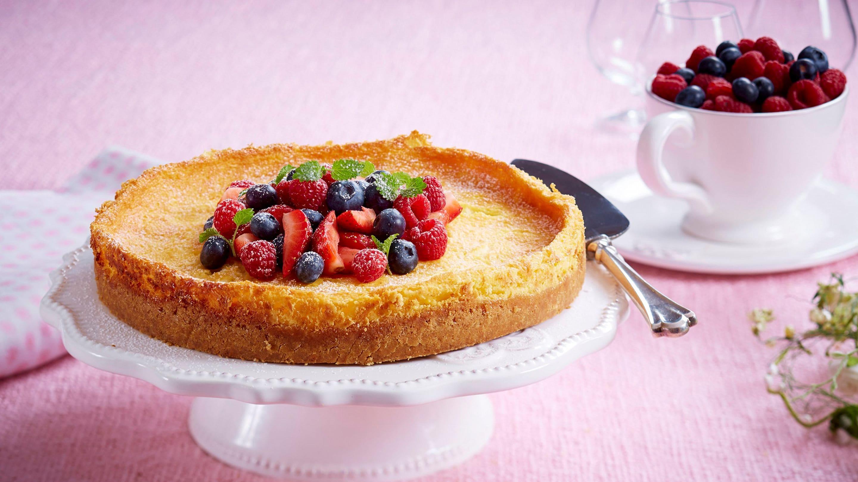 Amerikansk ostekake med friske bær