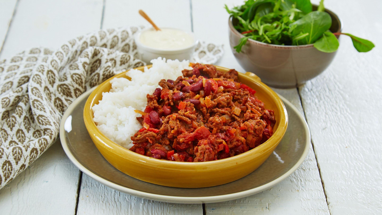 Chili con carne med karbonadedeig