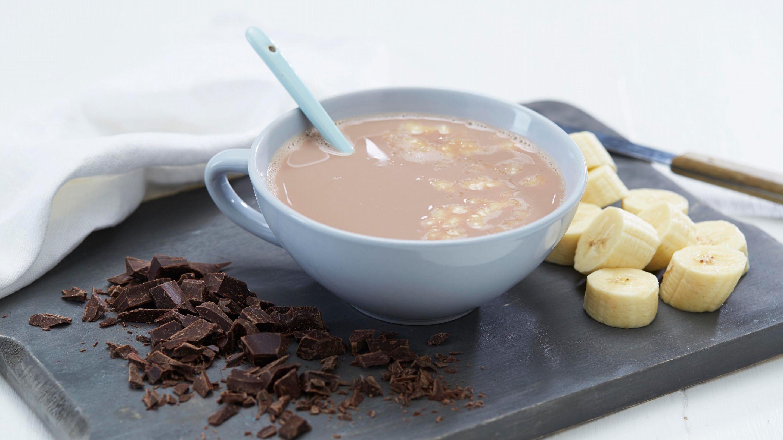 Varm sjokolade med banan