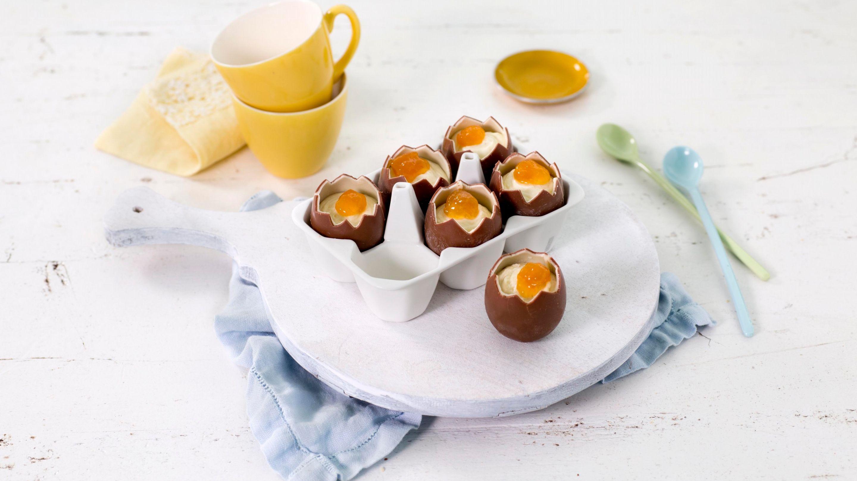 Sjokoladeegg med kremfyll