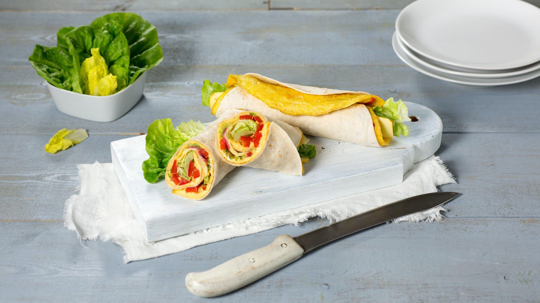 Omelettwrap med salami