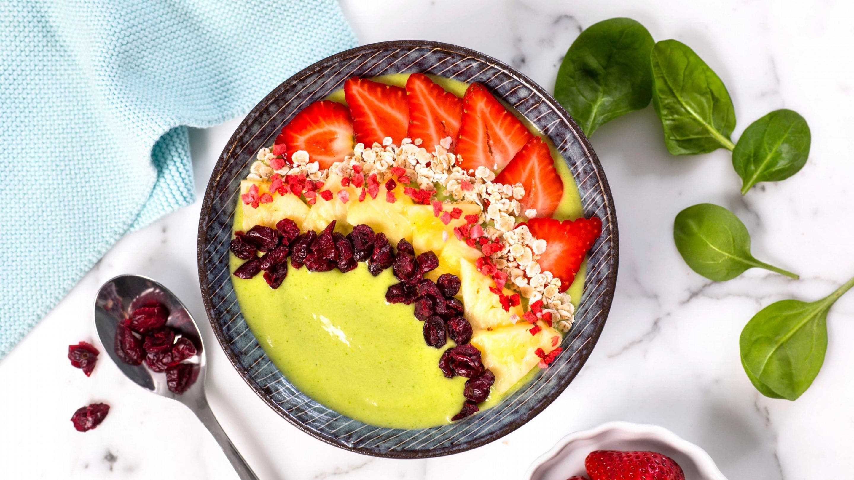 Smoothie bowl med spinat