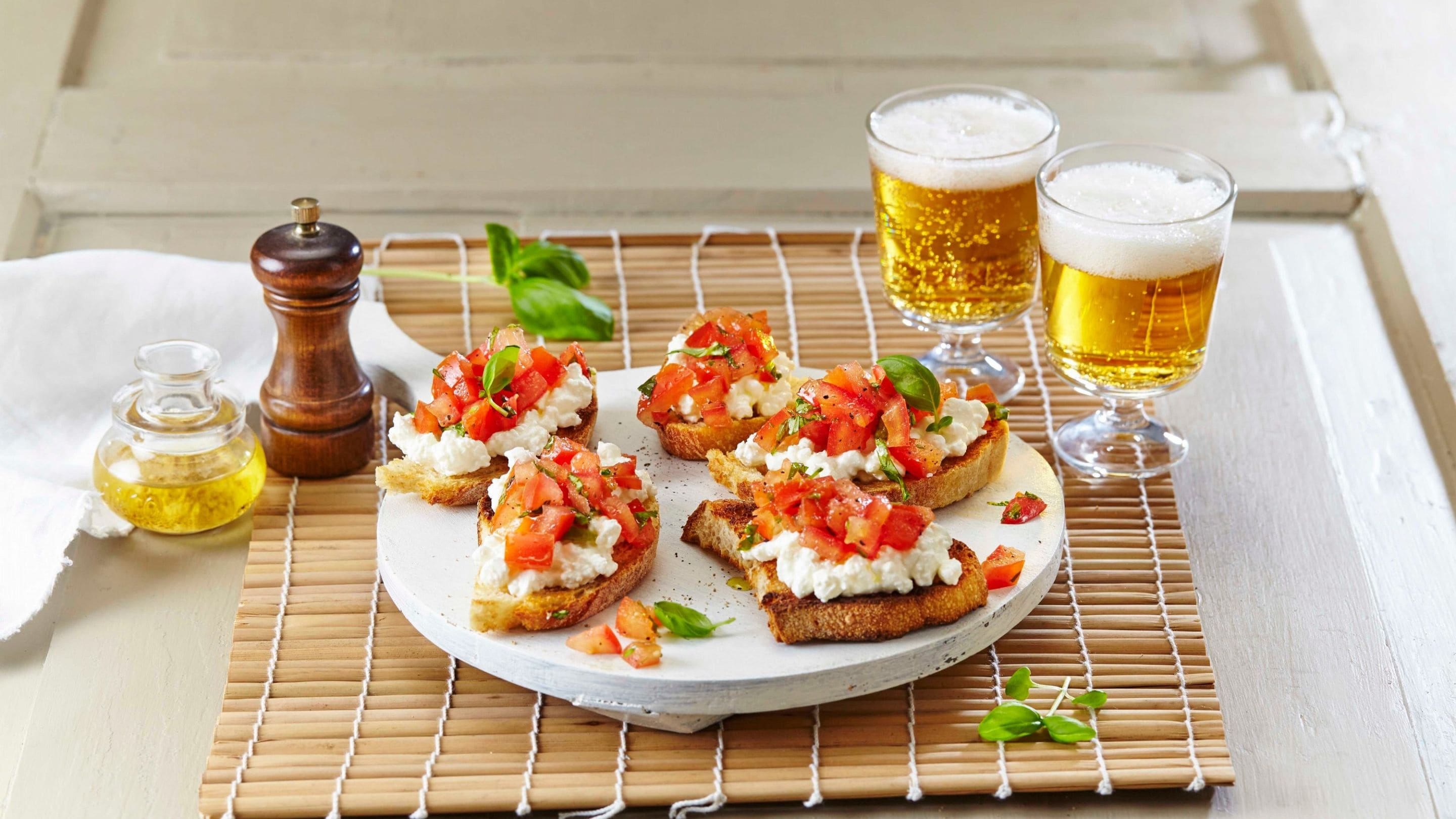 Bruschetta med cottage cheese