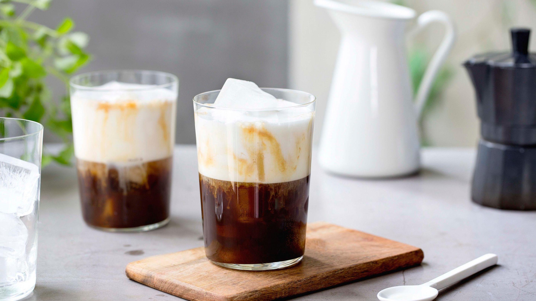 Iskaffe med espresso