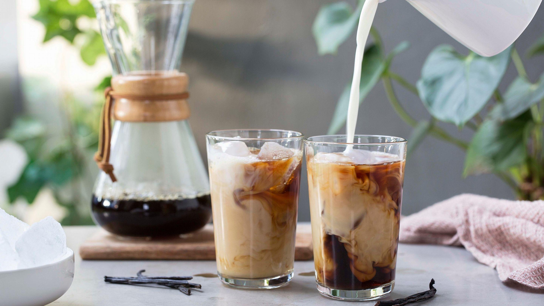 Iskaffe med vanilje