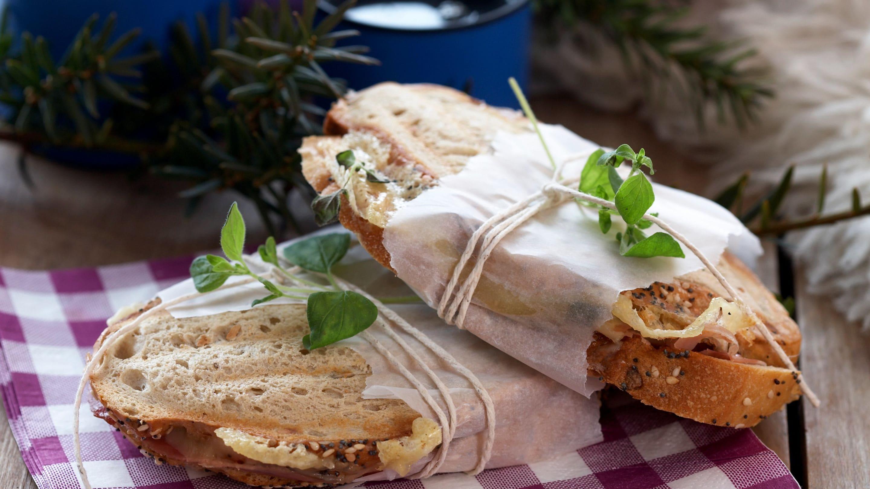 Sandwich med parmaskinke og Norvegia