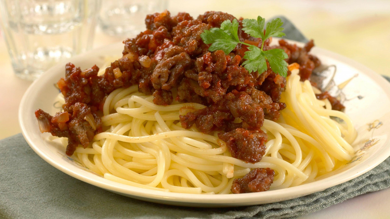 Spaghetti med kjøttdeig og ketchup