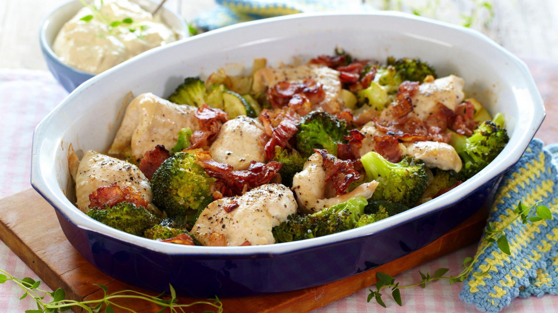 Kylling og grønnsaksform