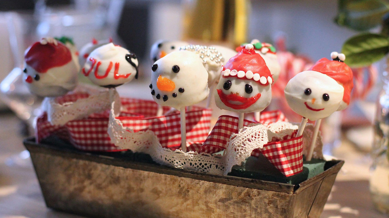 Julepyntede cake pops