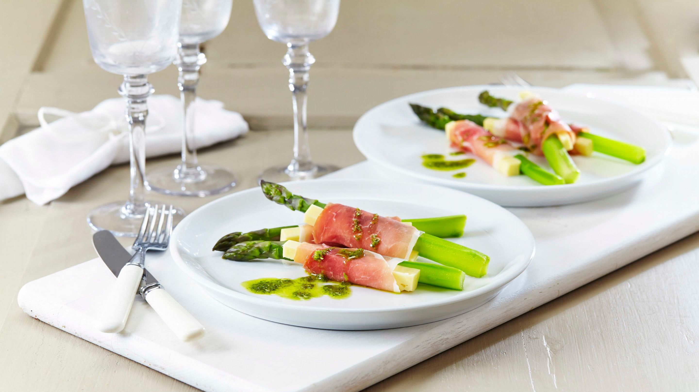 Asparges og Ridder® i skinke