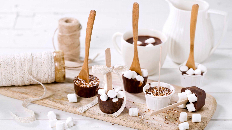 Varm sjokolade på pinne