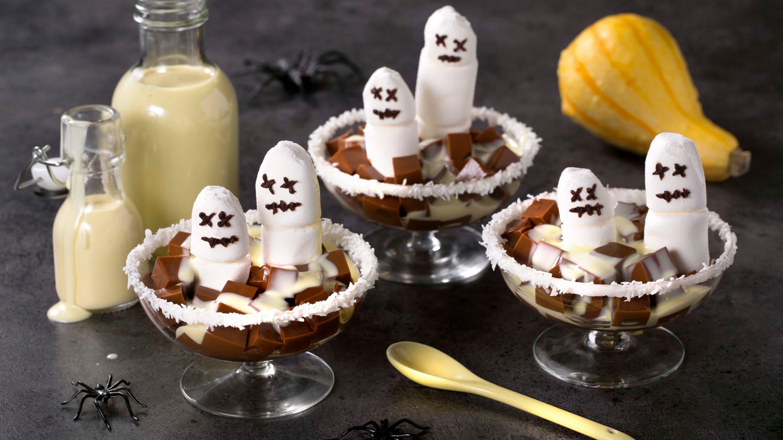 Spooky sjokoladepudding