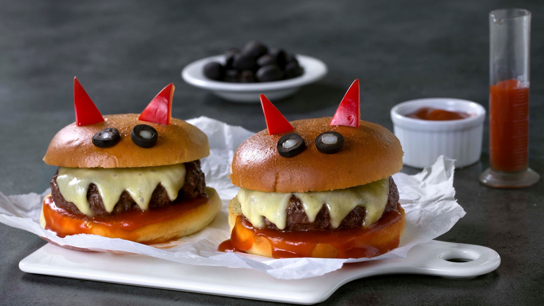 Halloween-burger