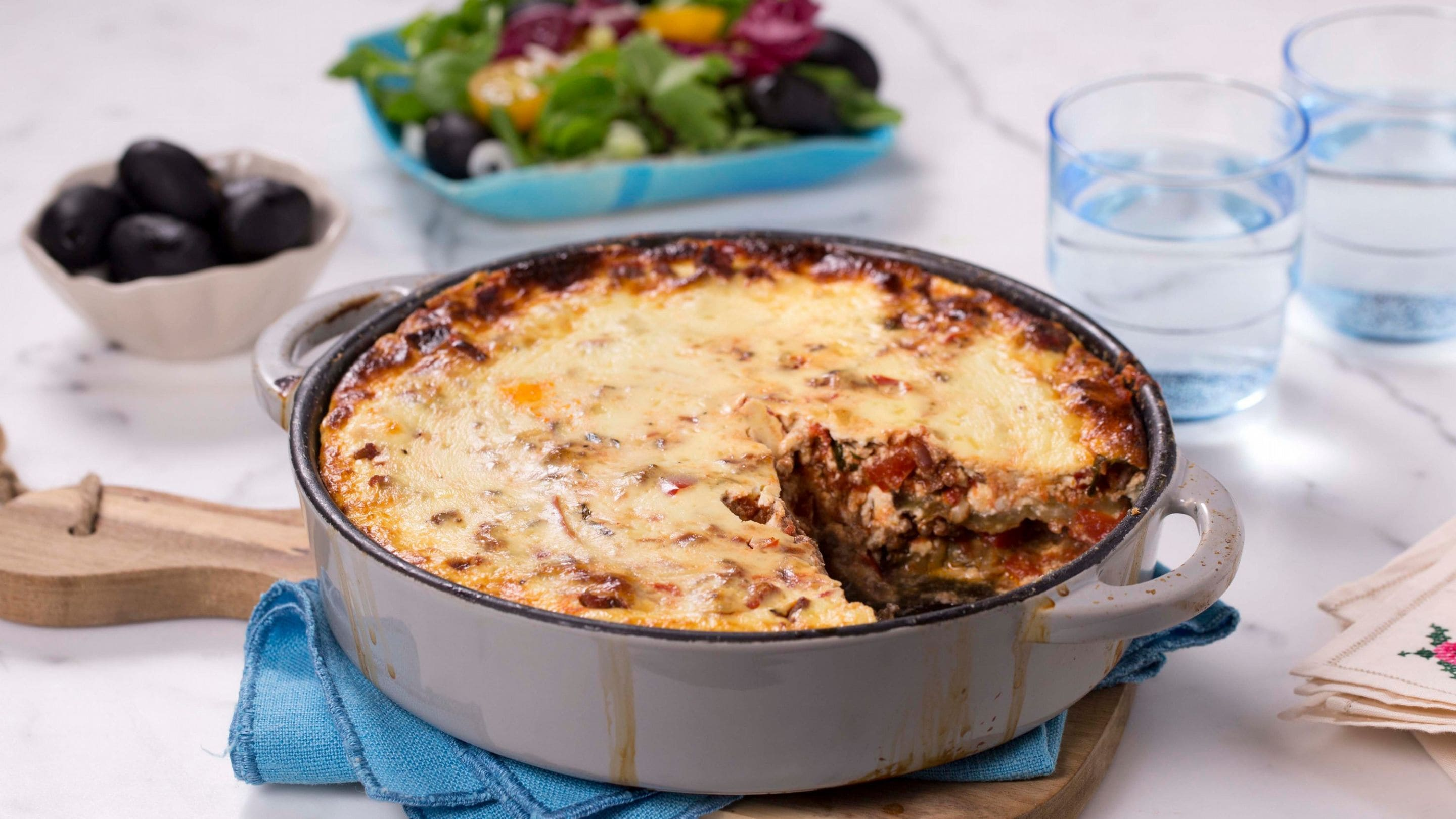 Moussaka med Cottage Cheese