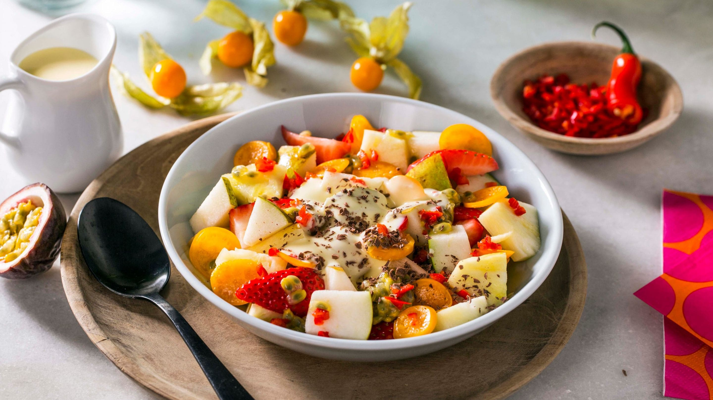 Spicy fruktsalat med chili