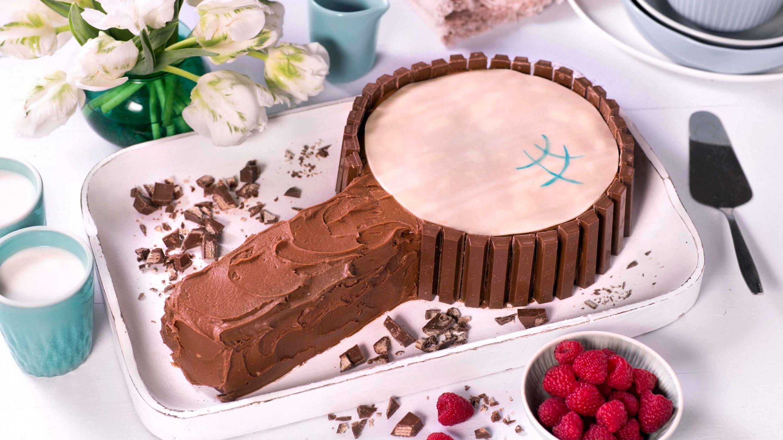 Sjokoladekake med Kvikk Lunsj