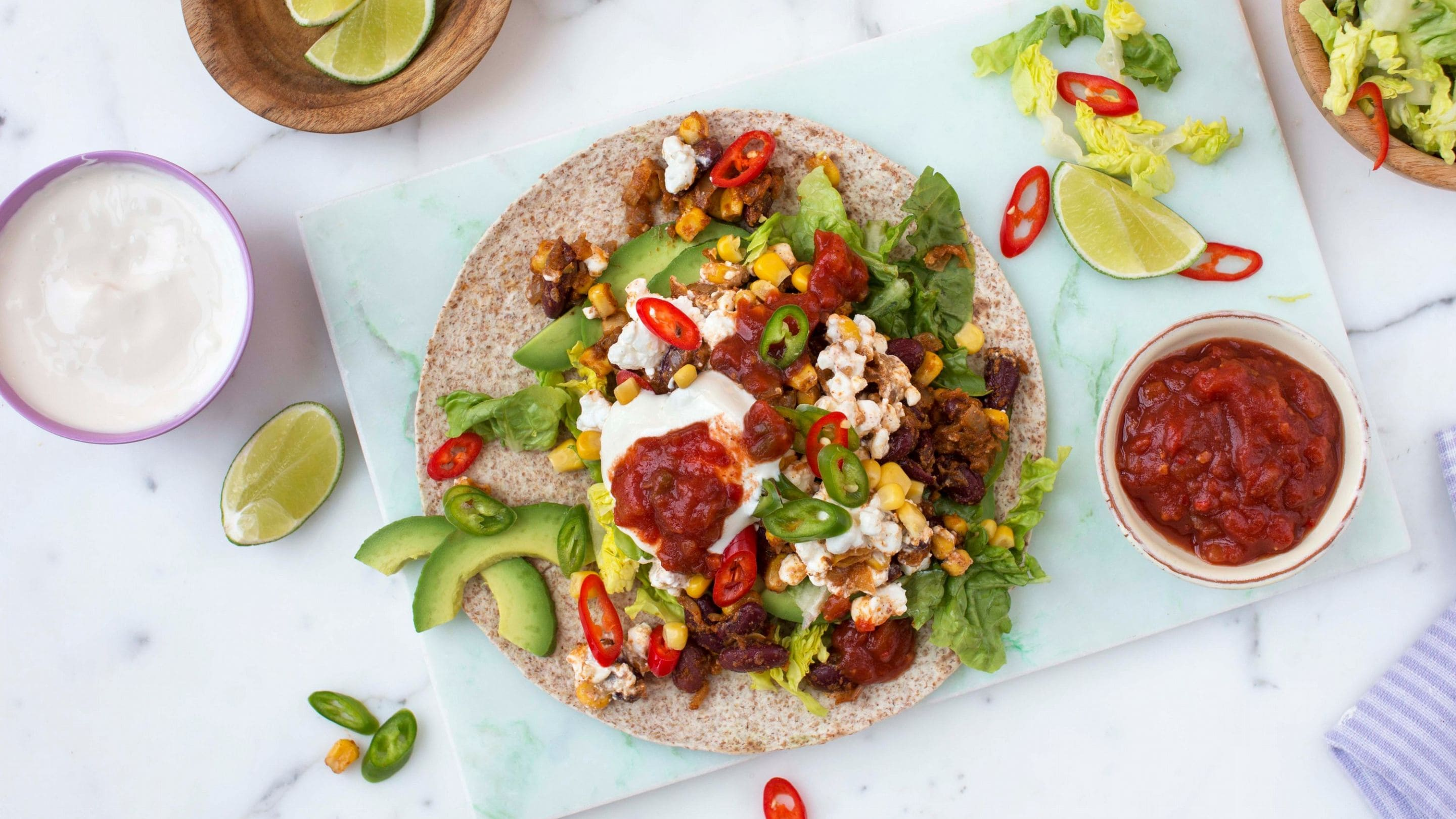 Cottage cheese-taco